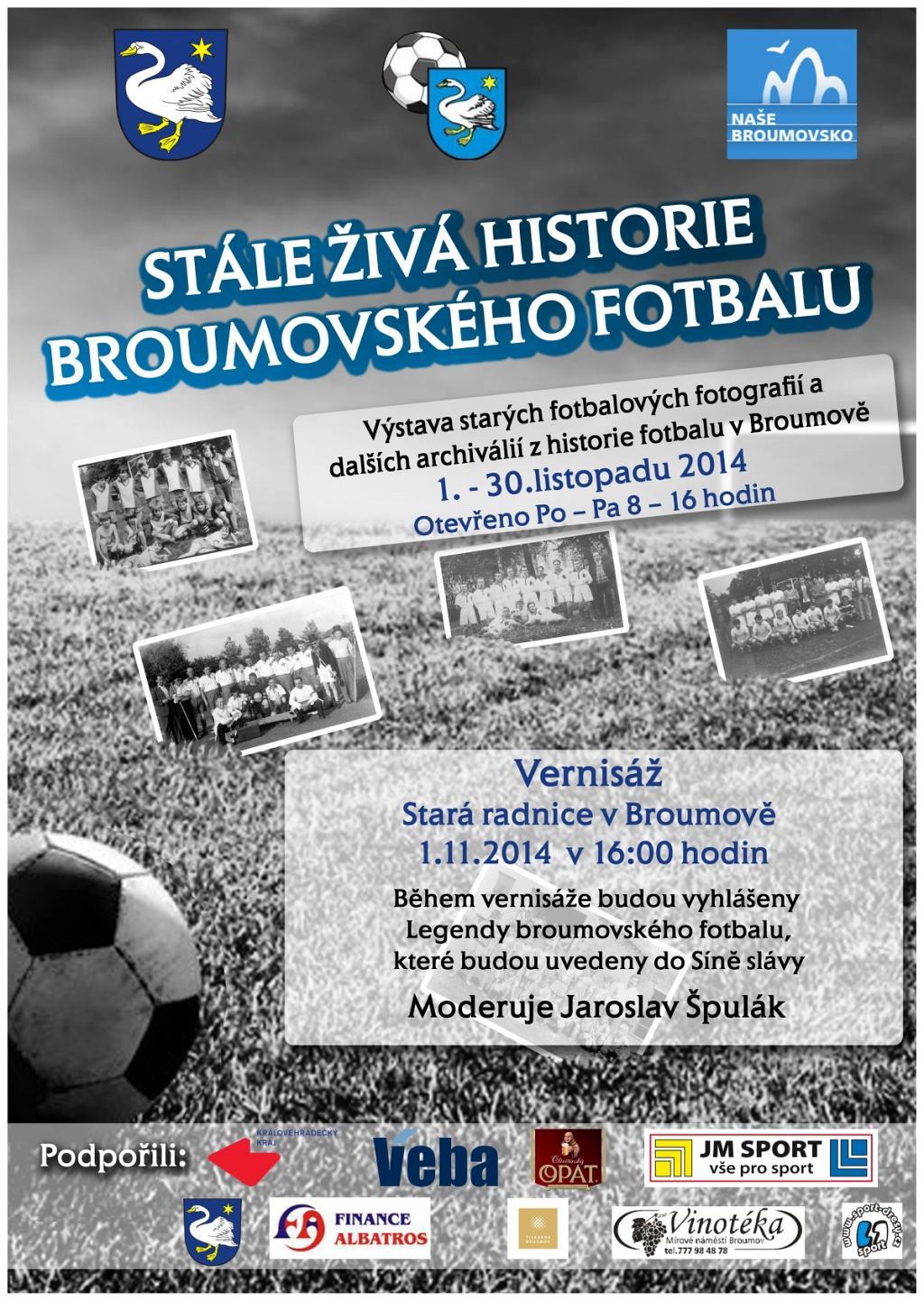 Stále živá historie broumovského fotbalu